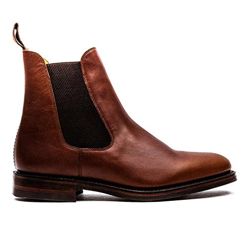 Loake Blenheim Mens Chelsea Boots Brown Waxy Leather