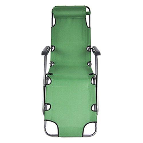 TOOGOO (R)Chaises Siege de salon inclinable Chaises de patio Cour en plein air Plage & Lolol: Vert Tailles: 60 pouces