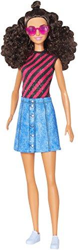 Barbie Mattel DVX77 - Fashionistas Puppe mit Denimrock und Sonnenbrille