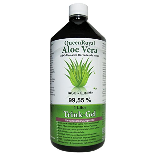 QueenRoyal Aloe Vera Trink Gel 99.55% pur 1 Liter Flasche #30255 G