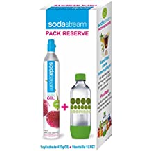 Sodastream 3011081 CO2-Zylinder und PET-Flasche, 1l