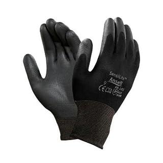 Ansell SensiLite 48-101 Mehrzweckhandschuhe, Mechanikschutz, Schwarz, Größe 9 (12 Paar pro Beutel)