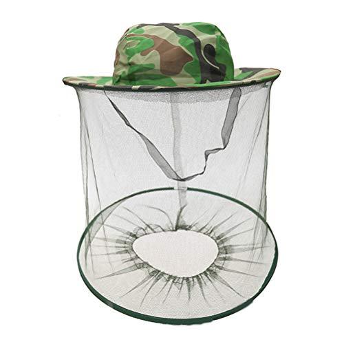 Moskitonetz Cap Insekt Cap Mask Cap Anti-Bienen-Schal Cap Eimer Mütze für Outdoor Angeln Jagd Landwirtschaft - Tarnung