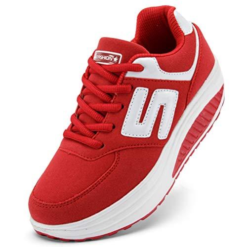 new style 6a09d 83f9d Sneakers Donna Primavera Outdoor Fitness Running Ladies Lace Up Zeppa Scarpe  da Corsa Resistenti Scarpe Sportive