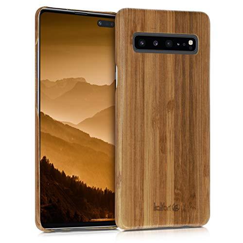 5g Cover (kalibri Samsung Galaxy S10 5G Hülle - Handy Bambus Schutzhülle - Slim Cover Handyhülle für Samsung Galaxy S10 5G)