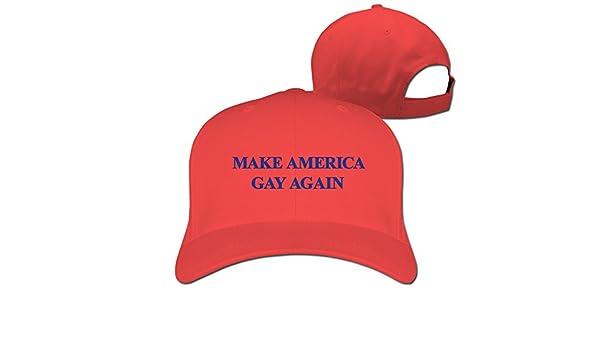 21924e81679 xcarmen Make America Gay Again Cool FLAT Bill Hats Red  Amazon.it  Sport e  tempo libero