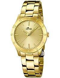 Lotus 18140/2 - Reloj de cuarzo para mujer, con correa de acero inoxidable, color dorado