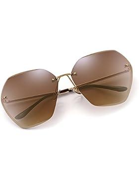 Gafas de Sol Sin Marco Gradiente Cuadrado Claro Anteojos Mujer