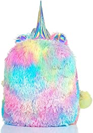 Mumoo Bear Fluffy Unicorn Backpack, Mumoo Bear Cute Plush Unicorn Backpack,Fluffy Mini Unicorn Backpack Bags f