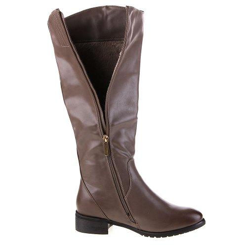 Damen Schuhe, 955-PG, STIEFEL Grau Braun