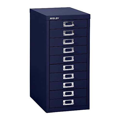 Bisley H2910NL 59 cm Home 10 Multi-Drawer - Oxford Blue