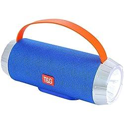 Enceinte Bluetooth Portable Puissante Pas Cher Enceinte Bluetooth Lumineuse Exterieur Haut-Parleur Bluetooth Portatif Pilote Double Subwoofer Micro et Basses Renforcées Mains-Libres Port Aux,USB,TF