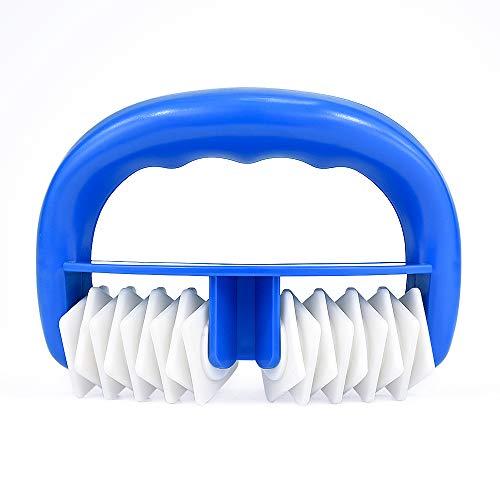 Locisne Body Roller Pinsel Cellulite Massager Remover Mitt, Nass oder Trocken Gebrauch, Great Fascia und Cellulite Blaster Sport Massage Tool für die Freigabe (blau) - Sport-massage-roller