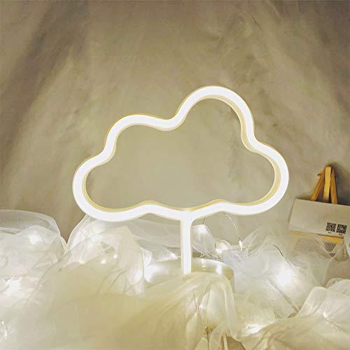 Señal linda LED azul luces de neón en forma de nube ligera de la decoración de la batería y USB Powered LED luces de la noche de marquesina Signos mejor decoración de la tabla para los niños Sala de