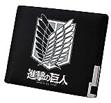 Cosstars Attack on Titan Anime Bifold Brieftasche Kunstleder Schlanke Geldbörse Portemonnaie Kreditkartenhülle /1