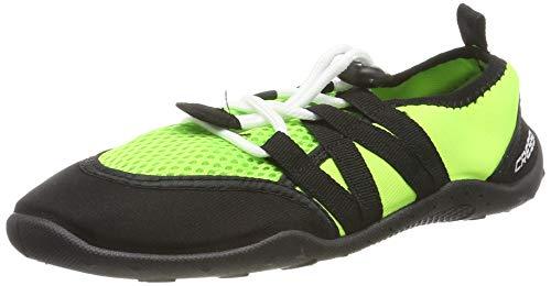 Cressi Elba Pool Shoes, Scarpette Ideali per Mare, Spiaggia, Barca, e Sport Acquatici Vari Unisex Adulto, Lime/Nero, 36