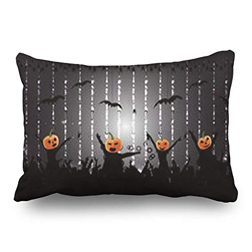 Yesliy Throw Pillow Covers Party Halloween People Autumn Sports Recreation Abstract Show Decor Pillowcase 45x45 cm Rectangular Home Decorative Cushion Pillow Cases