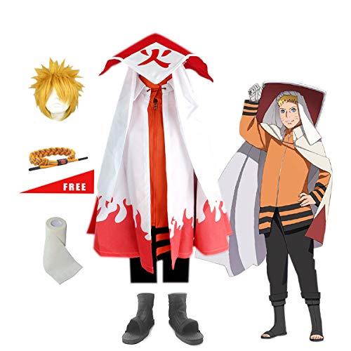 Kostüm Hokage - Lackingone Naruto Uzumaki Siebtes Hokage Set Ninja Cosplay Kostüm