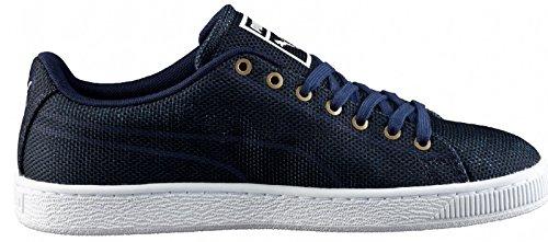 Puma Basket Classic Woven Peacoat, Sneaker uomo Blu Blu blu navy