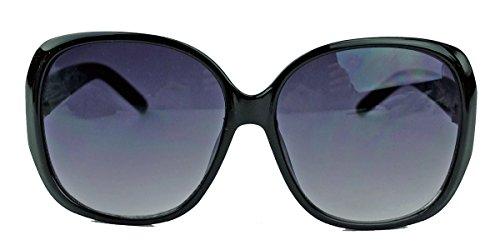 Große Damen Sonnenbrille im Designer Stil Butterfly Modell 70er Jahre V291 (Gold / Schwarz)