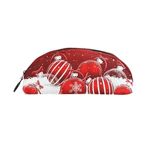 Federmäppchenhalter mit weihnachtlichen roten Bällen, Schneewittchen, Stiftebeutel mit Reißverschluss, Make-up für Kinder Mädchen Jungen