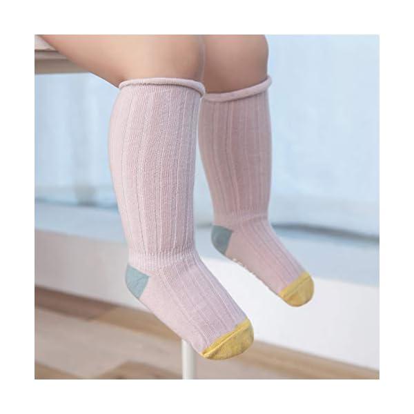 Ceguimos - Pack de 5 pares Calcetines Hata la Rodilla para Bebé Niño Niña 4