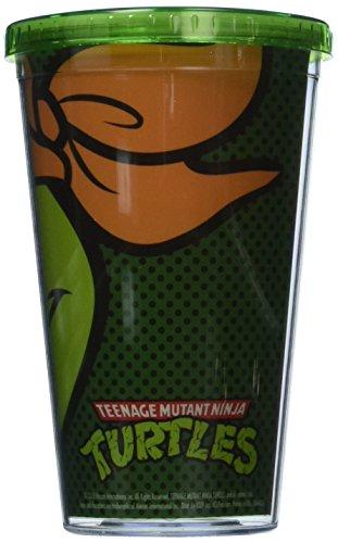 Plastique Mug – TMNT – Michelangelo Close Up Tasse W/paille de nouveaux Jouets 08790 Projecteur