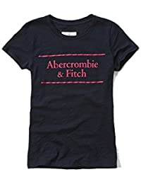Abercrombie & Fitch Womens Logo Graphic T-Shirt in Navy - New Collection
