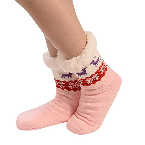 VJGOAL Mujeres invierno moda casual calcetines algodón