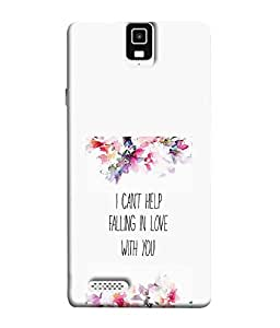 FUSON Designer Back Case Cover for Infocus M330 (Quote Love Heart Messages Crazy Express Sorry )