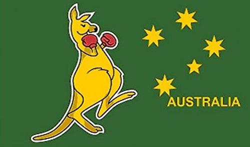 Perfectflags Känguru Australien Flagge 5ft x 3ft groß–100% Polyester–Metall Ösen–doppelt genäht