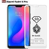 Cedo Xpro 5D Edge To Edge 9H Tempered Glass Screen Protector For Xiaomi Redmi 6 Pro (White)