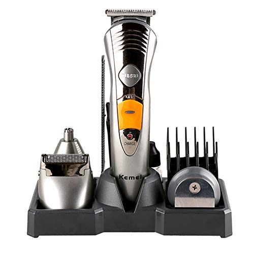 Multifonction tondeuse à cheveux sans fil rechargeable Kit de toilettage de la profession étanche rasoir barbe tondeuse pour les hommes enfants et l'utilisation de la famille