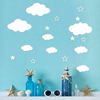 iHENGH Hot Seller DIY Clouds Wall Decals Children's Room Home Decoration Art(White)