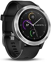 Garmin Vivoactive 3 - Montre Connectée de Sport GPS Cardio Poignet - Silver Bracelet Noir