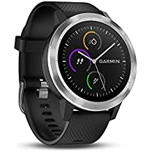 Garmin Vivoactive 3 Smartwatch con GPS y Pulsometro, Negro/Plata, Talla Única