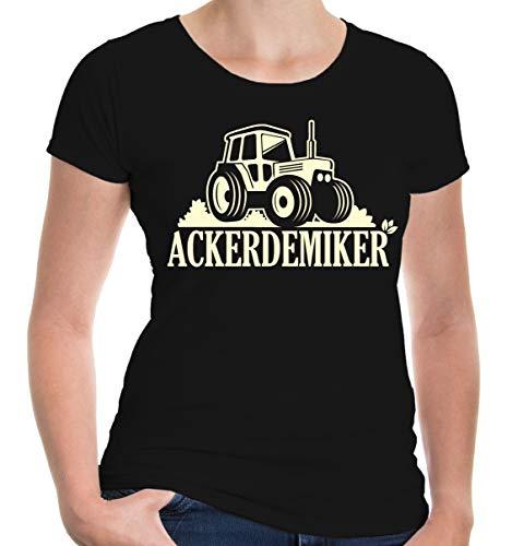 lie T-Shirt Ackerdemiker Landwirtschaft | XL, Schwarz ()