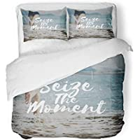 ... cepillada Transpirable Comparta momentos Aproveche la relajación positiva Cubo de respiración en la playa Juego de cama informal con 2 fundas de a