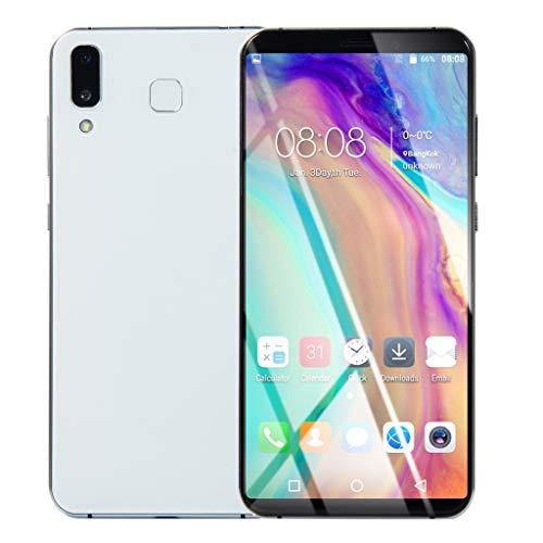 samLIKE Smartphone ohne Vertrag 1GB + 8GB GSM Octa-Core Android Handy 6.1 Zoll Ultradünn 3G 2800mAh Batterie, mit Dual-SIM und 8MP+2MP Dual-Kamera (Weiß)