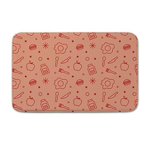 DKISEE Fußmatte für den Innen- und Außenbereich, süßes Chool-Muster, Fußmatte, Flanell, 20