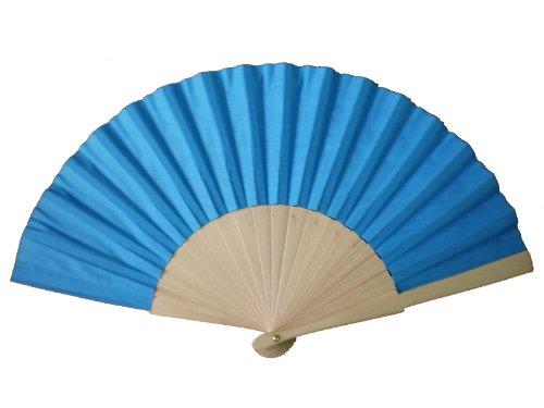 blue-wooden-fabric-hand-fan