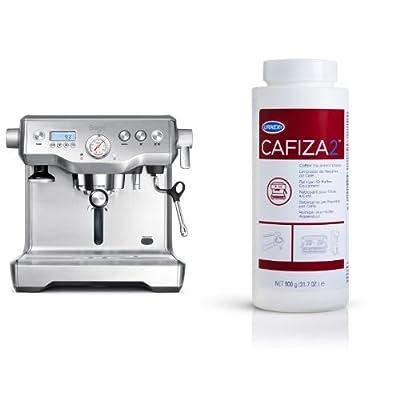 Sage by Heston Blumenthal BES920UK The Dual Boiler Espresso Machine - Silver & Espresso Machine Cleaner 900G Coffee Descaler Detergent