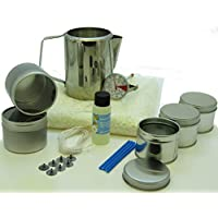 Kit para hacer velas con cera de soja:5latas, fragancia, 500g de cera de soja, jarra y termómetro.