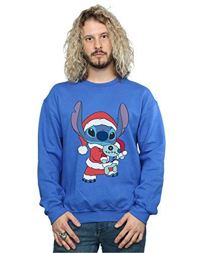 Jersey Stitch-pullover (Disney Herren Lilo and Stitch Stitch Christmas Sweatshirt Königsblau Small)
