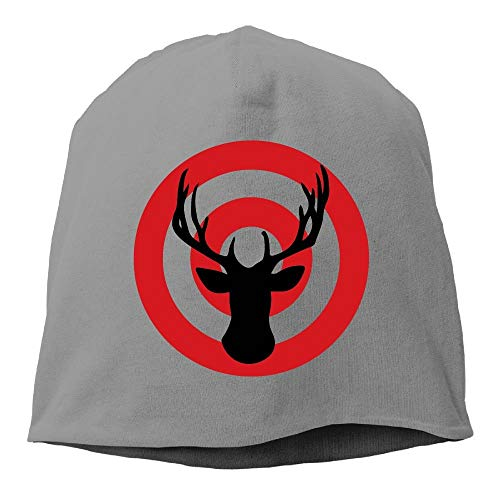 unting Bullseye Unisex Knit Hat Soft Stretch Beanies Skull Cap Hedging Cap Black ()