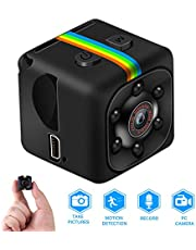 Mini Camera, Full HD 1080P Portable Small Security Camera, Micro Nanny Cam with Motion Detection and Infrared Night Vision, Compact Security Camera for Indoor and Outdoor