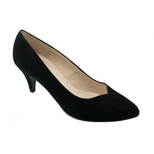 Escarpins Femme Noir Pointu Petit Talon - Karine - Yves De Beaumond ® N-Noir