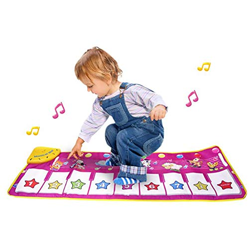 XIONGDA Baby-Musik-Mats Tastatur Playmat Tanz-Matten-Kinder-Tanzmusik-Teppich-Noten-Play Game tragbare Falten Baby Early Education Playmat Spielzeug für Kinder Geschenk