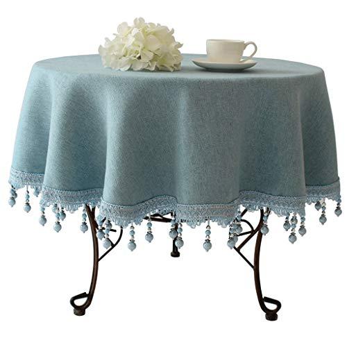 Europäische High-End-Runde Tischdecke Runde Tischdecke Home Mittelmeer Pastoralen Stil Tischdecke...