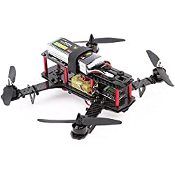 MODELTRONIC Dron de carreras brushless QAV 250 Mini Quadcopter con CC3D Open-pilot RTF con maletin listo para volar